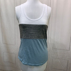 Reflex Racerback Tank Teal Gray Wite Black Medium
